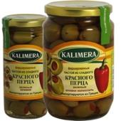 Оливки Калимера (KALIMERA) фаршированный красным перцем 260 гр. – ИМ «Обжора»