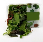 Зелень Салат Мікс Fino Fresco Mesclum (Л.Біонда. Рукола. Валер. Дубок) 125г – ІМ «Обжора»
