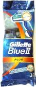 Станок для бритья Джилет (GILLETTE) 3 шт Блю ІІ Плюс – ИМ «Обжора»