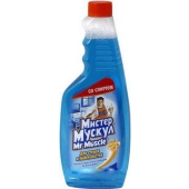 Средство Мистер Мускул (Mr Muscle) для стекл и других поверхностей запаска со спиртом 500 мл. – ИМ «Обжора»