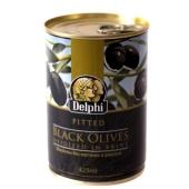 Маслины Делфи (Delphi) черные без косточек 425 гр. – ИМ «Обжора»