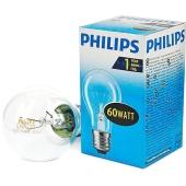 Лампочка Филипс (Philips)  GLS 60 W E27 прозрачная – ИМ «Обжора»