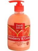 Жидкое мыло Фреш Джус (FRESH JUICE) Эльфа Strawberry & Guava 460 мл. – ИМ «Обжора»