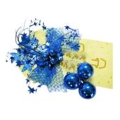 Декорация Шары синие с бантом – ИМ «Обжора»