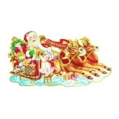 Наклейка Дед Мороз на оленях – ИМ «Обжора»