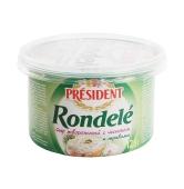 Сыр творожный Президент (President) Ронделе 125 гр. чеснок-травы 70% – ИМ «Обжора»