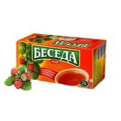 Чай Беседа черный листовой со вкусом земляники 26 п – ИМ «Обжора»
