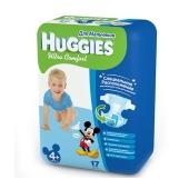Подгузники Хаггиз (Huggies) Ultra Comfort BOY 4+ 10-16 кг 17 шт. – ИМ «Обжора»