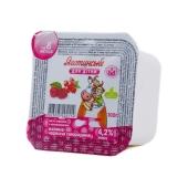 Творожная паста Яготин Малина-красная смородина 4,2% (от 8 мес) 100 г – ИМ «Обжора»
