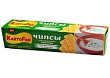 Чипсы КартоФан сметана/зелень 60г – ИМ «Обжора»