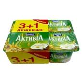 Бифидойогурт Активиа отруби-злаки 4х115 г – ИМ «Обжора»