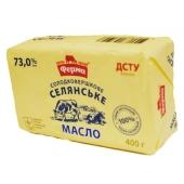 Масло Ферма Селянское 73% 400 г – ИМ «Обжора»