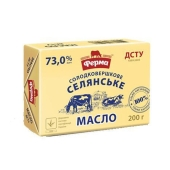 Масло Ферма 200 гр. Селянское 73% – ИМ «Обжора»