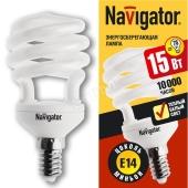 Лампа Навигатор (Navigator) 94 043 NCL-SH10-15-827-E14 (2700K, 10000час.) – ИМ «Обжора»