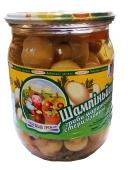 Шампиньоны Бабушкин урожай маринованные 500 г – ИМ «Обжора»