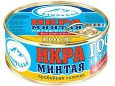Икра Гелиос Минтая пробойная ГОСТ 112 гр. жестяная банка – ИМ «Обжора»