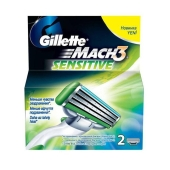 Картридж Джилет (Gillette) MAC-3 Sensitive 2шт – ИМ «Обжора»