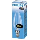 Лампочка Philips B 35 40 W E 14 прозора – ІМ «Обжора»