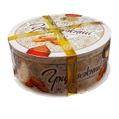 Торт БКК(Булочно-кондитерский комбинат) Грильяжный в белой глазури 1 кг – ИМ «Обжора»