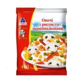 Овощи Рудь с рисом и шампиньонами замороженные 400 г – ИМ «Обжора»