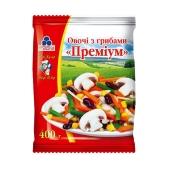 """Овощи """"Рудь"""" с грибами замороженные, Премиум, 400 г – ИМ «Обжора»"""