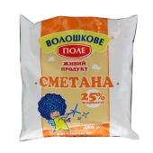 Сметана Волошково поле 25% 400л пленка – ИМ «Обжора»
