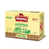 Масло Ферма Домашнее 63% 200 г – ИМ «Обжора»