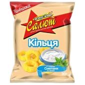 Кукурузные колечки Золотое зерно Салют сметана/зелень 30 г – ИМ «Обжора»