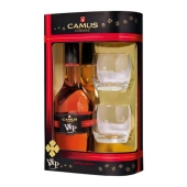 Коньяк Камю (Camus) ХО 0.7л +2 бокала – ИМ «Обжора»