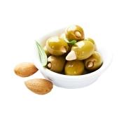 Оливки  с миндалем Греция  вес – ИМ «Обжора»