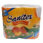 Т/бумага Санитекс.4.с ароматом персика 3слоя,50% целюл. – ИМ «Обжора»