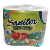 Туалетная бумага Санитекс.4.с ароматом яблок 3слоя,50% целюл. – ИМ «Обжора»