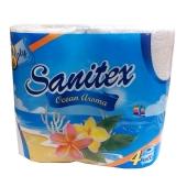 Т/бумага Санитекс.4.с ароматом океана 3слоя,50% целюл. – ИМ «Обжора»