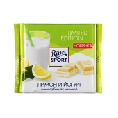 Белый шоколад Риттер спорт (Ritter Sport) йогурт лимон 100 г – ИМ «Обжора»