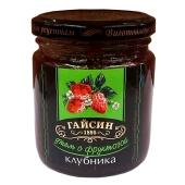 Джем диетический Гайсин Клубника с фруктозой 270 г – ИМ «Обжора»
