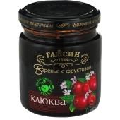 Варенье Гайсин Клюква с фруктозой 270 г – ИМ «Обжора»