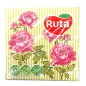Салфетки Рута (Ruta) Флора 33*33 20шт – ІМ «Обжора»