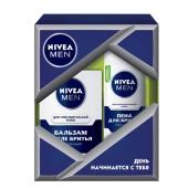 Набор Нивея (Nivea) FOR MEN для чувств. кожи (бальзам + пена) – ИМ «Обжора»