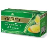 Чай Твайнинг (Twinings) Зеленый с лимоном 25 п – ИМ «Обжора»