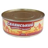 Паштет Онисс Селянский печеночный с салом и чесноком 240 г – ИМ «Обжора»
