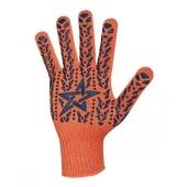 Перчатки рабочие Долони звездой orange 564 – ІМ «Обжора»