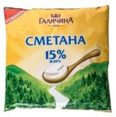 Сметана Галичина 15% 350 г – ИМ «Обжора»