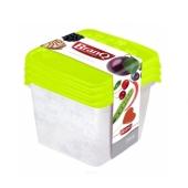 Компл. ёмкостей BRQ для морозилки квадр. RUKKOLA 3шт (2х0,45+0,75) 1125 – ИМ «Обжора»
