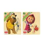 Игра логика деревянная,шеуровка,Маша и Медведь GT6016 – ИМ «Обжора»