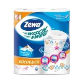 Полотенце кухонное Зева (ZEWA) Wisch & Weg Design 2 шт. – ИМ «Обжора»