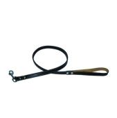 Поводок Коллар (Collar)  brilliance двойной  без украшений (ширина 18мм, длина 122см) черный 38881 – ИМ «Обжора»