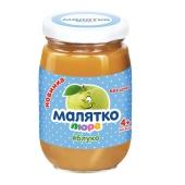 Пюре Малятко яблоко 180 г – ИМ «Обжора»