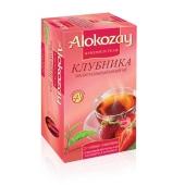 Чай Алокозай (Alokozay) черный с клубникой 25 п – ИМ «Обжора»