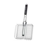 Решетка-гриль Форестер (Forester)  BQ-S03 24х30 см объемная средняя со складной ручкой – ИМ «Обжора»