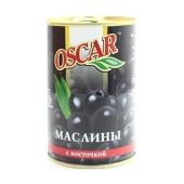 Маслины Оскар 425г черные с/к – ИМ «Обжора»